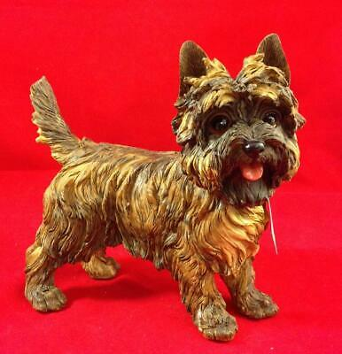LARGE BRINDLE CAIRN TERRIER Figurine, 9 inches long, New in Original Box
