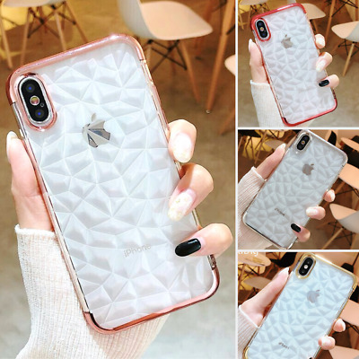 Bling Diamond Shockproof Clear Phone Cover Case for Apple iPhone 6s 7 XS 8 Plus