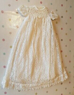 Lace Christening Robe Hand Made Age 1 two layer