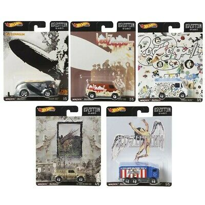 Led Zeppelin Hot Wheels set of 5 (In hand - Ready to ship)