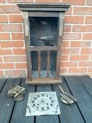 Vintage Wooden Clock USA Works HB Southampton Not Working / Parts / Restoration
