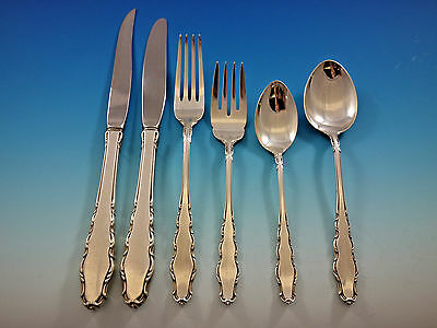 English Provincial by Reed and Barton Sterling Silver Flatware Set Service 79 pc