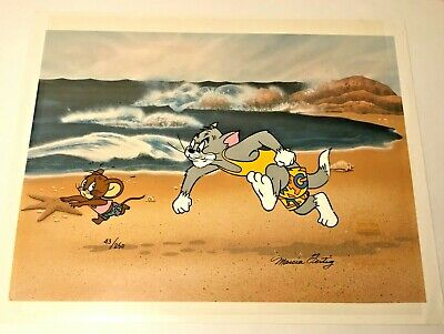 Tom & Jerry Limited Edition cel THE GREAT CHASE 43/250 animation art cat mouse