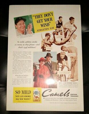 Lou Gherig  (and other athletes) Endorsed Camel Cigarettes Advertisement 1935