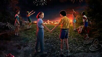 New Stranger Things season 3 Silk Wall Poster Size : 24x36 inches Free Shipping