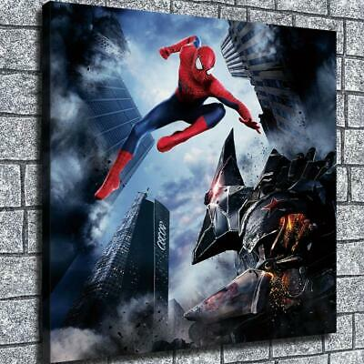 "12""x12""Battle spiderman HD Canvas print Home decor Wall art poster painting"