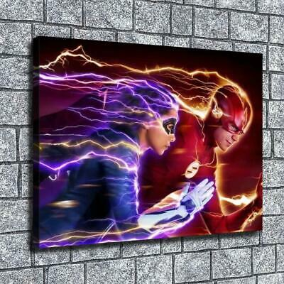 "12""x16""Flash men and women race HD Canvas print Home decor Room Wall Art Picture"
