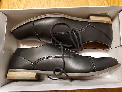 Sonoma Barclay Boys Mens Black Size 7 M Dress Shoes Worn Once