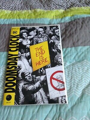 Doomsday Clock #1 Black & White Cover DC Comics 5th Printing Batman Watchmen