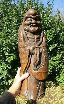 Vintage/Antique Asian Carved Bamboo Figure Sculpture