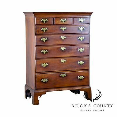 18th Century Antique Chippendale Pennsylvania Walnut High Chest