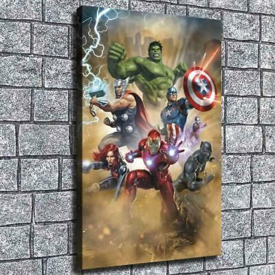 "12""x18"" Avengers Superheros HD Canvas prints Home decor Room Wall Art Pictures"