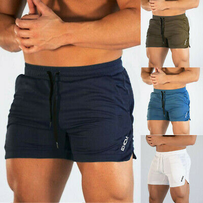 AU Mens Gym Training Shorts Workout Sports Casual Clothing Fitness Running Short