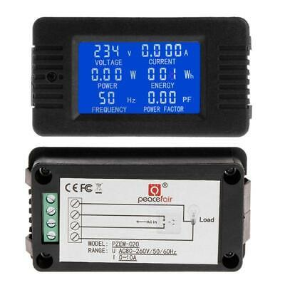6in1 Digital AC 80~260V Power Energy Monitor Voltage Current KWh Watt Meter e