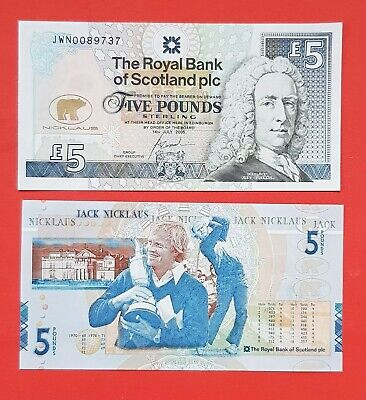 2005 The Royal Bank Of Scotland £5 Five Pound Note - 'Jack Nicklaus'