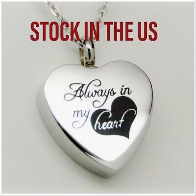 """""""Always in my Heart""""  Cremation Urn Necklace 