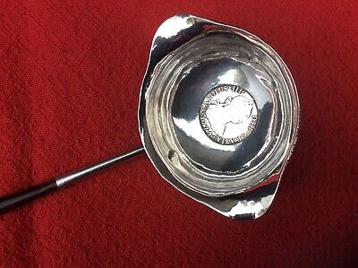 ANTIQUE 18th CENTURY  GEORGIAN SILVER PUNCH LADLE. GEORGE III.