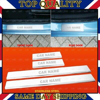 Chrome Door Sill Scratch Protector Guard STAINLESS STEEL for Nissan Models