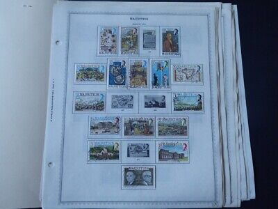 Mauritius 1954-1988 Stamp Collection on Album Pages