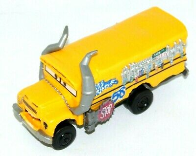 2016 Mattel Disney Pixar Miss Fritter Plastic School Bus w/Moving Mouth 6""