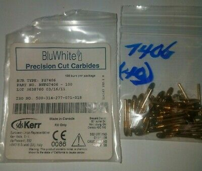 KERR BLUWhite Finishing Burs FG7406 Finishing 12 Blade Egg (40 pack)