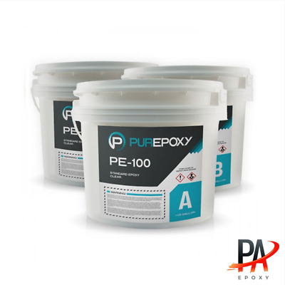 Epoxy-3 gallon Kit (PE-100 Purepoxy Transparent; Clear)