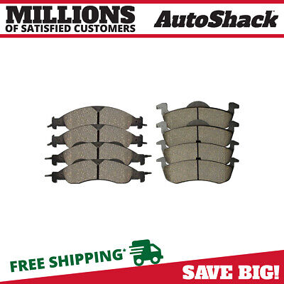 Front and Rear Ceramic Brake Pads for 2007 2008 2009 Ford Expedition Navigator