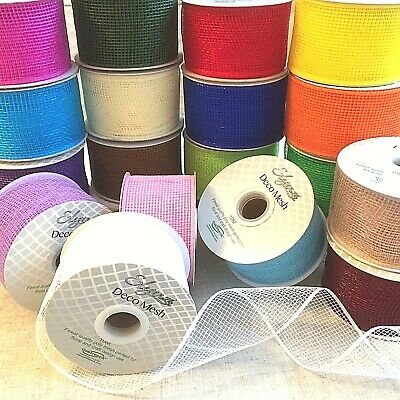 Deco Mesh by Eleganza Available In 8 Metallic Colours 53cm x 9.1 For Crafts