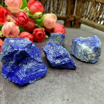 Natural Rough Afghanistan Lapis lazuli Crystal Gemstone Mineral Display S2J2