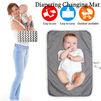 Foldable Portable Cotton Diaper Changing Mat Nappy Urine Pads Waterproof