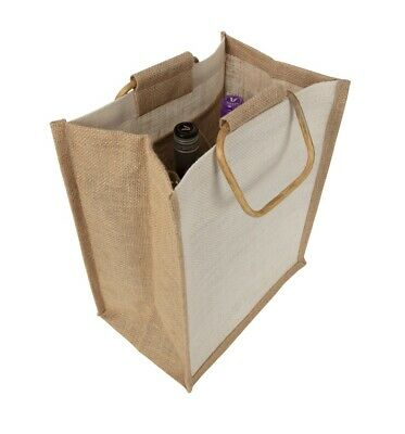 Wine Gift bag - 6-pack Wine Bottle bag Jute  - Stock in Sydney