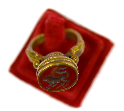 A nice antique islamic Persian bronze gilt ring