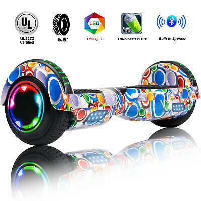 """6.5"""" Bluetooth Hoverboard LED Electric Self Balancing Scooter UL Colorful Bag"""
