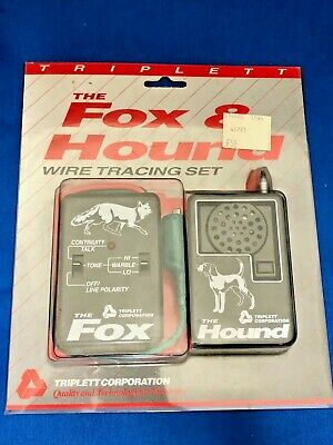 ** NEW ** Triplett Fox & Hound Wire & Cable Tracing Kit Tone Generator and Probe