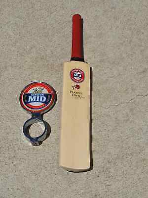 Carlton Mid Beer Tap Badge and Mini Cricket Bat