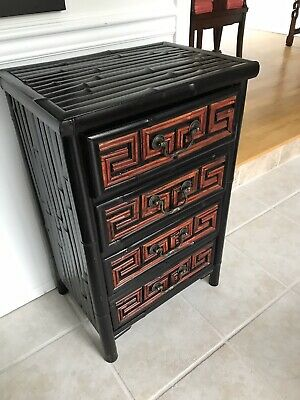Asian Style Bamboo & Wood Cabinet