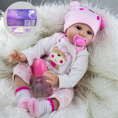 """22"""" Reborn Baby Dolls Real Life Like Realistic Newborn Baby Girl Doll Clothes UK"""