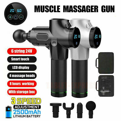 LCD Deep Tissue Muscle Percussive Massage Gun Vibration Therapy Massager 3-Speed