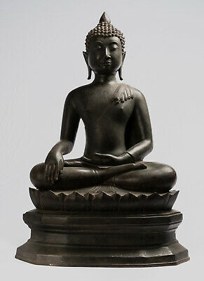 Buddha - 18th Century Antique Chiang Saen Enlightenment Buddha Statue - 69cm/28""