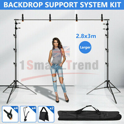 NEWLY Studio T-Type Backdrop Stand Heavy-Duty Video Photo Background Support KIT