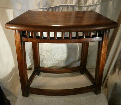 Beautifuly Carved Hardwood Seat Bench Stool,Mahogany Side Table 21""