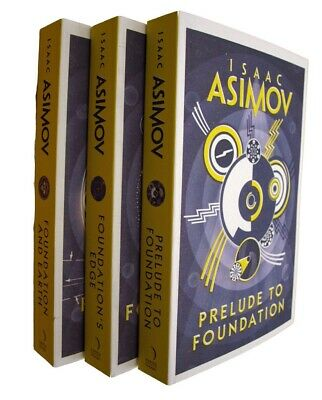 The Foundation Series 3 Books by Isaac Asimov SF Saga Prelude Edge Earth New