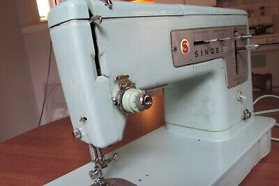 Singer Model 338 Turquoise Sewing Machine