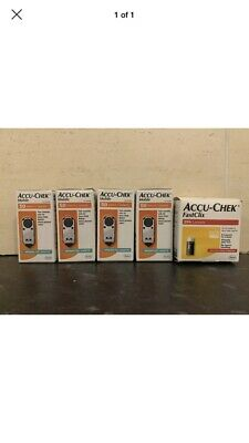 Accu-Chek Mobile Cassette 4 Boxes  200 total. free posting 204 Fastclix