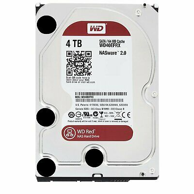 "Western Digital WD Red 4TB 3.5"" SATA Internal NAS Hard Drive HDD WD40EFRX"