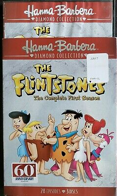 The Flintstones The Complete First Season (DVD, 2017, 3 DVD Set) Diamond 60th