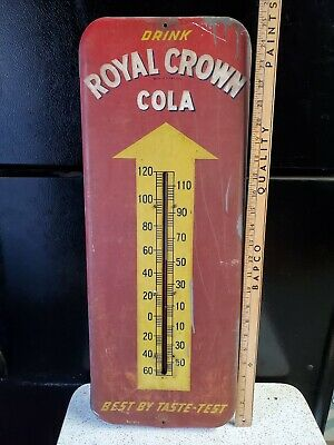 1950 Royal Crown Cola Thermometer 25 1/2 Inches Tall