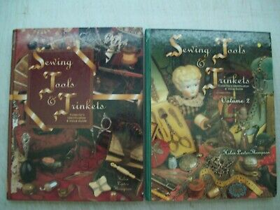 2 Antique Vintage Sewing Tools PRICE GUIDE Collector Books Thimble Scissor's +++
