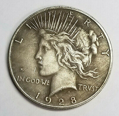 Two Sided 1928 Peace Silver Dollar Coin Double Headed Coin Neat