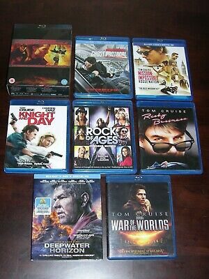 Lot of 10 Blu Ray Movies, Tom Cruise, Mission Impossible Collection And Others